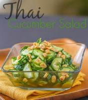 Salads And Dressings - Thai Sweet And Sour Cucumber Salad