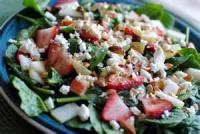 Salads And Dressings - Strawberry And Spinach Salad With Lemon Dressing
