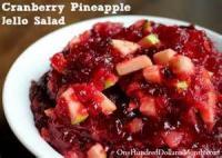 Salads And Dressings - Gelatin -  Raspberry Pineapple Salad