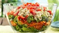 Salads And Dressings - Layered Southwestern Pasta Salad