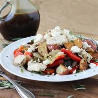 Salads And Dressings - Roasted Potato Salad With Rosemary And Asiago Cheese