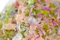 Salads And Dressings - Seafood -  Poached Salmon And Greens With Dill Dressing
