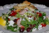Salads And Dressings - Seafood -  Broiled Shrimp With Greek Salad