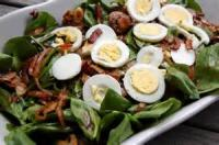 Salads And Dressings - Spinach -  Spinach, Egg And Bacon Salad