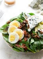 Salads And Dressings - Spinach -  Warm Spinach Salad