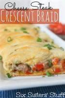 Sandwiches - Cheese Steak Crescent Braid