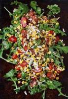 Salads And Dressings - Arugula, Tomato And Corn Salad
