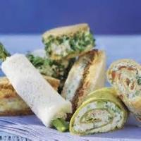 Sandwiches - Cheese -  Cream Cheese, Olive And Cucumber Sandwiches