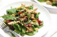 Salads And Dressings - Tomato -  Blt Salad With Warm Onion Vinaigrette