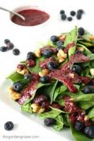 Salads And Dressings - Spinach -  Spinach Salad With Basil Dressing