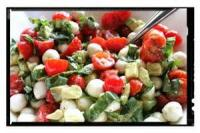 Salads And Dressings - Tomato -  Tomato, Mozzarella, And Basil Salad