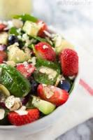 Salads And Dressings - Spinach -  Spinach Salad With Honey Mustard Poppy Seed Dressing
