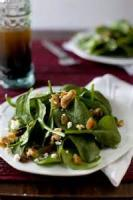 Salads And Dressings - Spinach Salad With Walnuts And Raisins