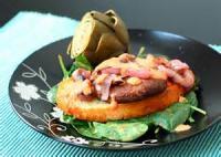 Sandwiches - Portobello Steak Sandwiches With Gorgonzola Butter And Red Pepper Vinaigrette