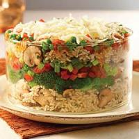 Low_fat - Salad -  Meditteranean Layered Salad