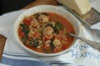 Soups - Italian Spinach Soup With Meatballs