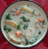 Soups - Potato -  Home-made Potato Spinach Soup