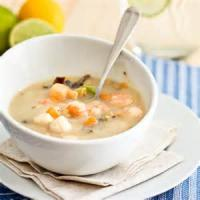 Soups - Seafood -  Scallop Chowder With Lime Juice