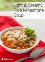 Soups - Vegetable Minestrone With Rice