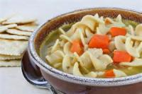 Soups - Chicken -  Old-fashioned Chicken Noodle Soup With Winter Vegetables