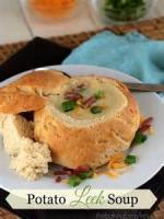 Soups - Leek Soup In Bread Bowls