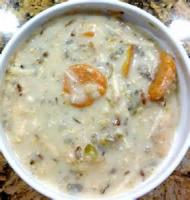Soups - Chicken -  Cream Of Chicken Soup With Wild Rice