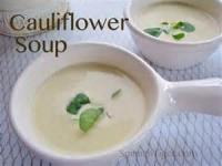 Soups - Cream Of Spinach Or Cauliflower Soup