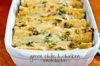 Southwestern - Green Chile Chicken Enchiladas