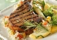 Southwestern - Pork -  Ham Steaks With Corn Salsa