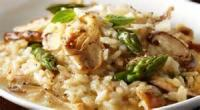 Vegetables - Asparagus -  Wild Mushroom Risotto With Asparaguss