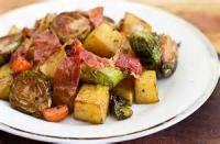 Vegetables - Roasted Brussel Sprouts And Potatoes