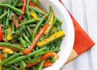 Vegetables - Green Beans -  Green Beans With Two Red Peppers