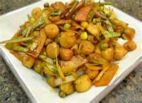 Vegetables - Stir Fried Scallops With Leeks