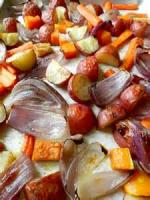 Vegetables - Baked Garlic Cloves And Potatoes