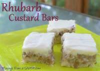 Vegetables - Rhubarb Custard Bars