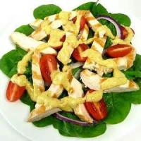 Vegetables - Spinach -  Broiled Chicken With Creamy Spinach