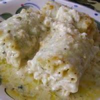 Vegetables - Spinach -  Lasagna Alfredo Roll-ups