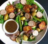 Vegetables - Potato Salad -  Warm Sausage And Potato Salad