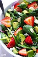 Vegetables - Spinach -  Spinach Salad With Honey Mustard Poppy Seed Dressing