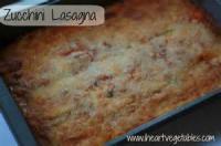 Vegetables - Zucchini Lasagna