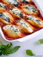 Vegetarian - Shells Stuffed With Ricotta And Spinach