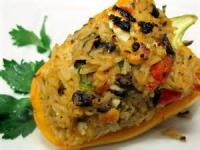 Vegetarian - Entree -  Stuffed Yellow Bell Peppers