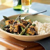 Vegetarian - Ginger Tofu Over Sesame Rice