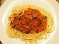 Vegetarian - Spaghetti With Tomato-eggplant Sauce