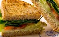 Vegetarian - Sandwich -  Feta, Cucumber And Spinach Pita Sandwiches