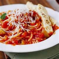 Vegetarian - Pasta With A Special Marinara Sauce