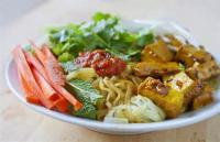 Vegetarian - Salad -  Rice Noodle Salad With Vegetables And Tofu