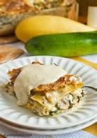 Vegetarian - Vegetable Lasagna In Parmesan Cream Sauce