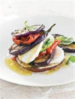 Vegetables - Grilled Eggplant And Tomato Stacks