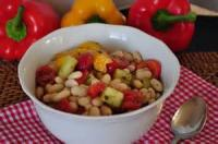 Vegetarian - Black And White Bean Salad With Tomatoes And Olives